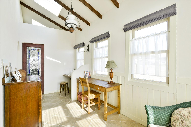 勾配天井の可愛い家事室