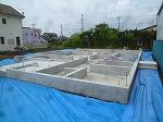 輸入住宅 日立市 M様邸 基礎工事完了