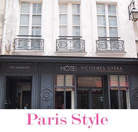 輸入住宅 パリのアパルトマン写真とロゴ