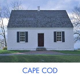 輸入住宅 ケープコッド写真とロゴ