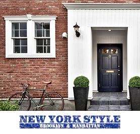 輸入住宅 ニューヨークスタイル写真とロゴ