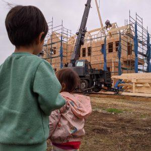 つくば市A様邸「Farm House」建て方がはじまりました      輸入住宅茨城  四季彩建設