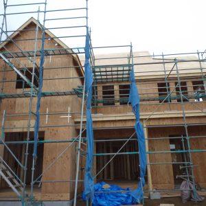 建築中の新築住宅